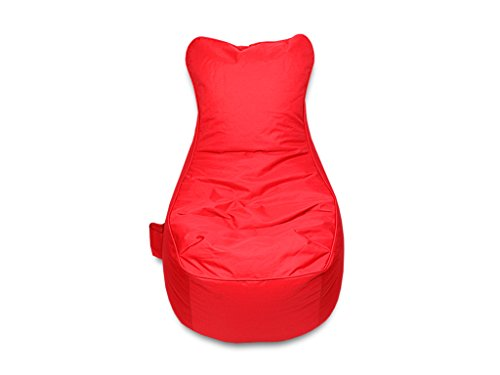 kissenwelt.de Sitzsack Sessel - Rot - Polyester - L70 x B65 x H90 cm - In/Outdoor Sitzsack- Made in Germany