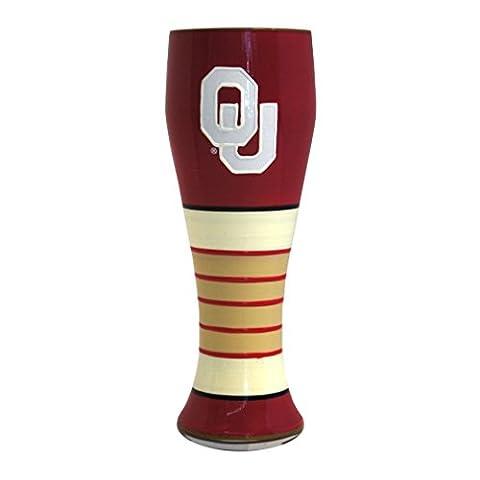 NCAA Oklahoma Sooners Artisan Pilsner Glass, 23-ounce