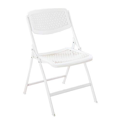 KHL Neue Haushalt Kunststoff Klappstuhl, Einfache Studentenwohnheim Computer Stuhl Freizeit Sitz Bürostuhl Konferenzstuhl (Farbe : Weiß)