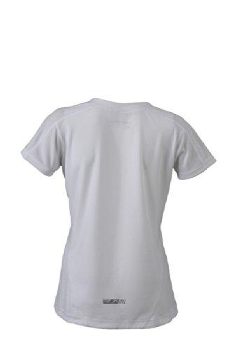 JAMES & NICHOLSON Shirt Ladies Running T-shirt - T-shirt de Maternité - Femme Blanc (White)