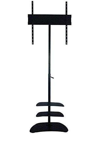 Smart Shelter Premium Metal LCD/LED/Plasma TV Height Adjustable Floor Mount Stand