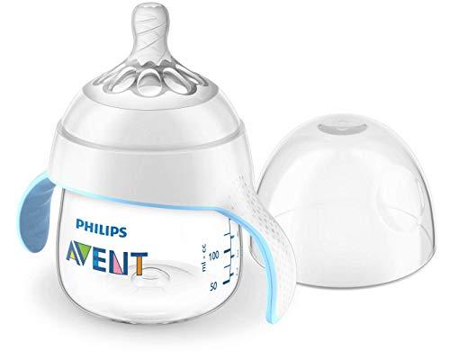 weicher Schnabel Griffe 200ml blau ab 6 Monaten Philips Avent Trinkbecher SCF746//02 Griffe