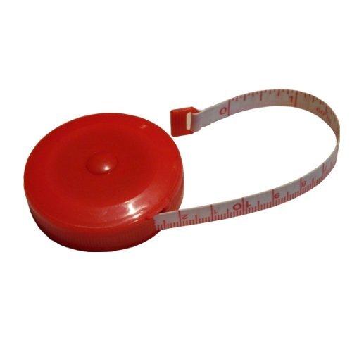 BIG-SAM Rollbandmaß - Rollmaßband - Bandmaß - 150cm / 1,50m - (Rot)
