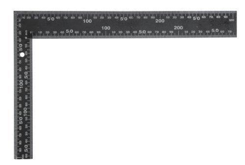 VOREL 18200 Winkel, Stahl, 600 x 400 mm, quadratisch - Schwarz