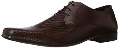 Redtape Men's Derbys Brown Leather Formal Shoes - 7 UK