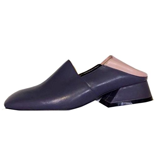 COOLCEPT Damen Mode-Event 2 Way Slingback Block Heel Pumps Shoes Grau
