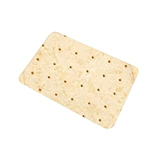 ZEELIY Wohnen Badematten Rund - Heimtextilien Badteppich für komfortable Food Creations Burrito Wrap Blanket Square Badezimmer Teppich 45x60CM