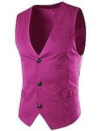10b9fdcde6c2 Lilis® Männer Anzug Weste DREI Knöpfe Weste Slim Fit für Anzug oder Smoking