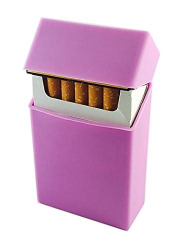 Offre Lagiwa Etui à paquet cigarettes en silicone avec 1 cadeau bonus - Couleur au choix (Mauve)