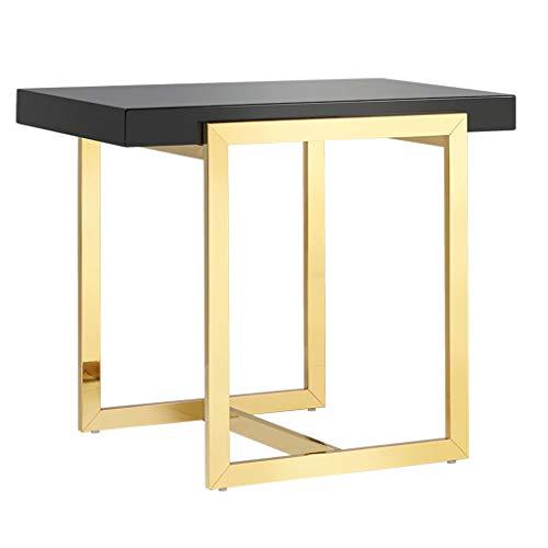 Tables de dos de canapé Table Basse Petite Table Basse en métal Peint côté Salon canapé Table Basse élégante Petite Table en Acier Inoxydable Table Basse Table de lit