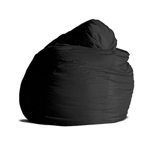 Pouf-poltrona-sacco-grande-BAG-XXL-Jive-tessuto-tecnico-antistrappo-nero-imbottito-Avalon