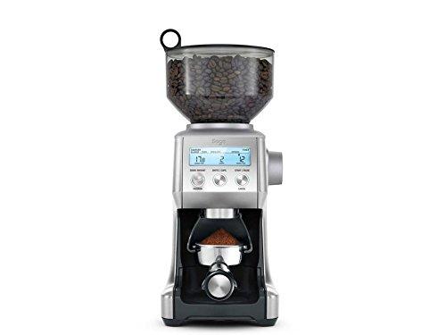 SAGE SCG820 the Smart Grinder Pro Kaffeemühle mit LCD-Anzeige für Press- oder Filterkaffee, Gebürsteter Edelstahl 7 Cup French Press