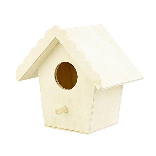Casette per Uccelli in Legno Casetta per Uccelli Casetta per Uccelli Nido per Uccelli Nesting voliera in Legno per Appendere L'Albero all'aperto e visualizzare all'Interno