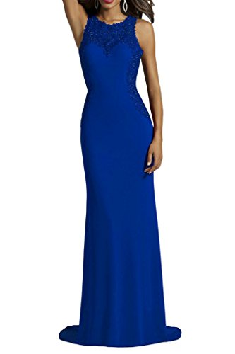 Promgirl House Damen Glamour Rot Spitze Rundkragen Etui Abendkleider Cocktail Ballkleider Lang Royalblau
