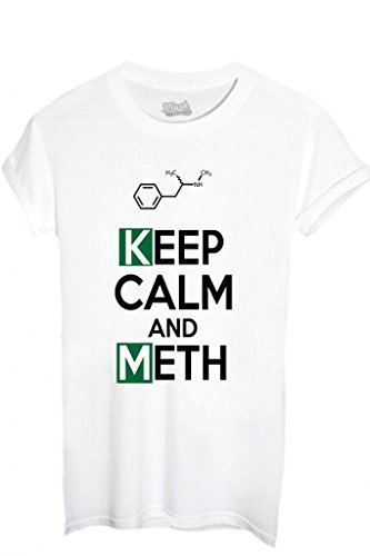 T-SHIRT KEEP CALM AND BREAKING BAD-SERIE TV by MUSH Dress Your Style VERDE MILITARE
