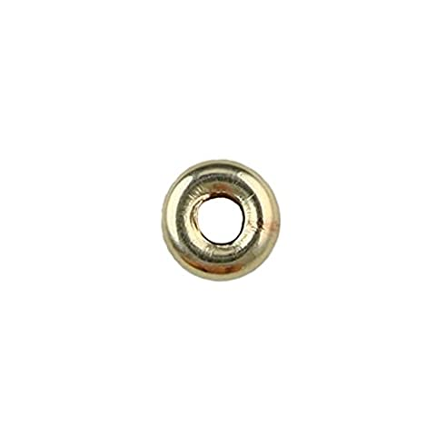 14K Gold Filled–4mm Plat lisse Rondel en forme de perle–5pcs