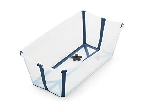 Stokke Flexi Bath XL- Badewanne für Babys, Kleinkinder & Kinder - Extrem leicht und zusammenklappbar - Farbe: XL Transparent Blue