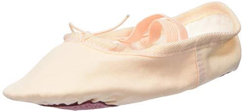 L-RUN Mädchen Frauen Ballett Tanzschuhe Yoga Gymnastic Flache Schuhe Beige, 5 UK Frauen