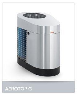 ELCO Aerotop G Luft-Wasser Wärmepumpen Leistung 6,4 kW Edelstahloptik