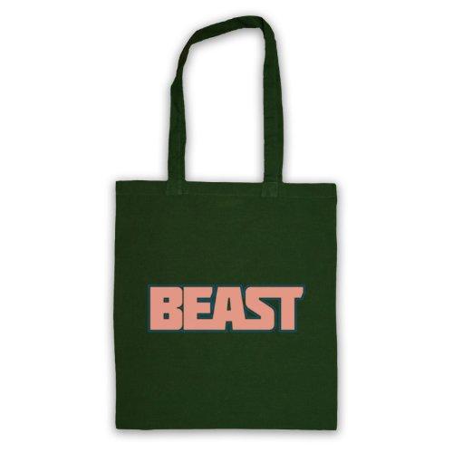 Beast-Borsa da palestra, motivo: aforismi [lingua inglese] Verde scuro