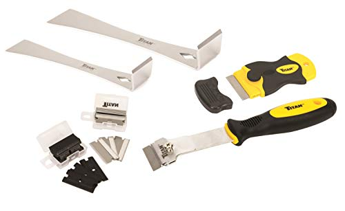 Titan Tools 59400 4-Piece Scraper Set with 42 Replacement Blades (Blade Construction)