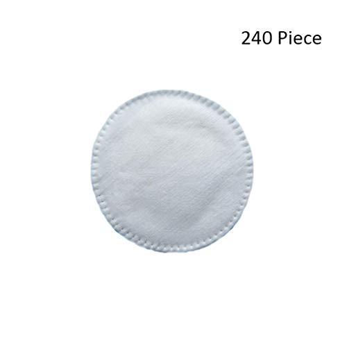 240 stücke Baumwolle Gesicht Make-Up Entferner Baumwolle Gesicht Abwischen Tiefenreinigung Baumwolle Bambusfaser Hautpflege Gesicht Waschen Kosmetik Werkzeug (Color : White) -