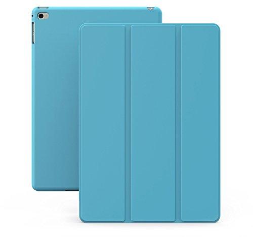 Khomo iPad Air 2 Hülle Case Blau Hellblaues Gehäuse mit doppelten Schutz ultra dünn und leicht, Smart Cover  - Dual Blue (Ipad Air 2 Cover Cool)