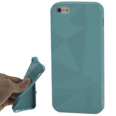 "iPhone 5/5S Coque/Case en Silicone en vert de style ""Triangle-Original seulement de thesmartguard"