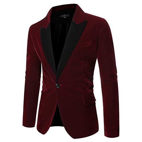 Blazer Chaqueta de Fiesta Negocios para Hombre Blazer de Boda Invierno Casual Vintage Americana Blazer...