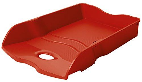 HAN Briefablage HAN LOOP 10290-17 in Rot / Variabel stapelbare Papierablage / In modernem Design / Für Briefe & Papiere bis Format A4–C4, 6 Stück