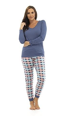 Womens Long Pyjamas 2 Piece Set Long Sleeved Nightwear Ladies