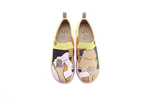 UIN Damen Kiss Canvas Paar Loafer Schuhe Gelb(39) (Canvas Loafer)