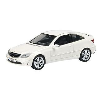 Schuco 450724300 - Mercedes Benz CLC, CL203, concet white, Sammlermodell, 1:43