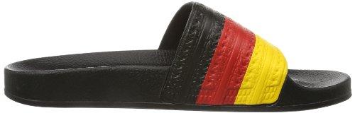 adidas Originals ADILETTE Flags D65796 Unisex-Erwachsene Sneaker Schwarz (Schwarz/Collegiate Rot/Sunshine)