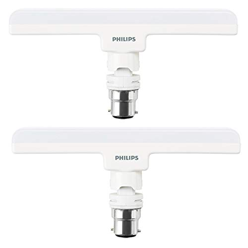 Philips T Bulb 10 Watt LED Bulb, Base B22 (Cool Daylight, Pack of 2)