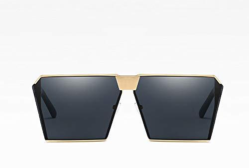ZHLU Square Large Frame Sunglasses Unisex Outdoor Gläser,Black