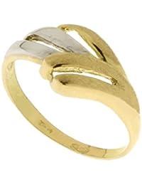 Anillo de mujer de oro 18 kt 750/1000 brillante y satinado, oro amarillo