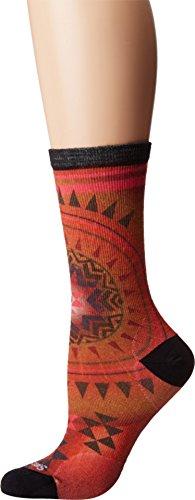 Smartwool Damen Morningside Print Socken Outdoor-Socken, tandoori orange, M (38-41) -