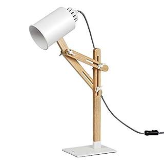 Tomons Lampe de Table en Bois LED Réglable Lecture Bureau éclairage pour Maison Ampoule Inclus