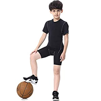Coralup Kids Compression Sets Base Layer Boys&Girls Sport Thermal Underwear Suits Fitness Clothing 2PCS 4-13Years 1