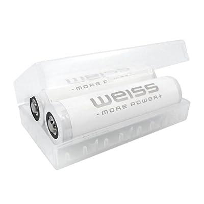 Weiss 2-er-Pack Li-Ion 18650 Akku (Cells by Panasonic) 2900 mAh 400686 von Mertrado GmbH - Lampenhans.de