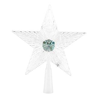 Zerodis – Lámpara LED con Forma de Estrella para árbol de Navidad