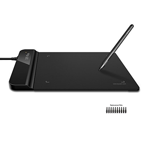 XP-Pen G430 Star 05 OSU Grafiktablett Drawing Pen Tablet (G430, Schwarz)