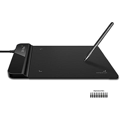 XP-Pen G430 Tableta Digital 4 x 3 pulgadas para el Juego de osu! y Lápiz sin Batería(Negro)