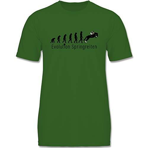 Evolution Kind - Springreiten Evolution - 122-128 (7-8 Jahre) - Grün - F140K - Jungen T-Shirt