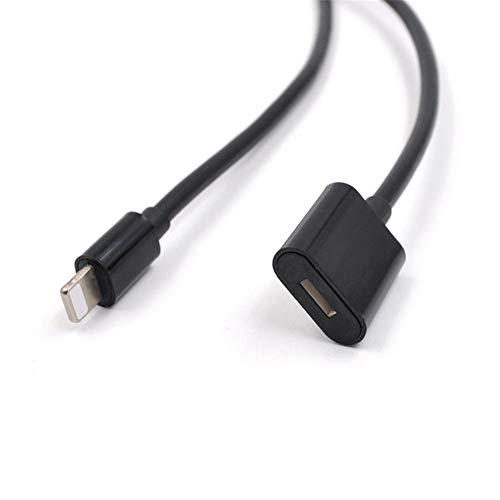 D.ragon für DJI OSMO Pocket-Verlängerungskabel (Schwarz) Extender-Dockkabel Kompatibel mit iPhone 6, 6S, 7, 8, X, iPad Ipod Nano Port