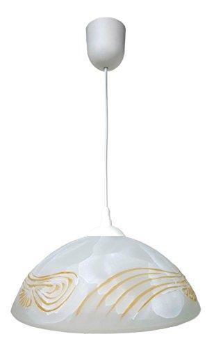 Moderne Pendelleuchte Weiß gemustert Halbkugel Form Küchenlampe Innenleuchte Hängeleuchte...