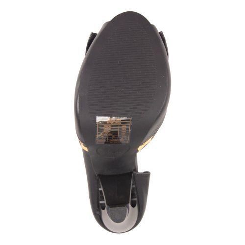 T.U.K. Peep Toe Heel A8187L black-leo Black