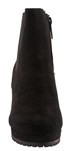 Elara , chaussures compensées femme Noir