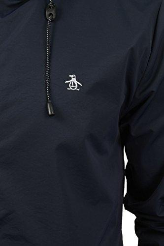Original Penguin Homme Full Zip Logo Ratner Veste à capuche, Bleu Bleu